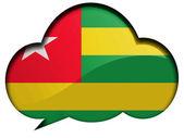 Togo flag — Stock Photo