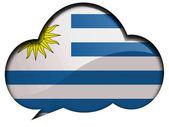 Bandiera uruguay — Foto Stock