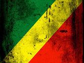Kongo vlajka — Stock fotografie