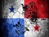 Panama flagg — Stockfoto