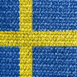 The Swedish flag — Stock Photo