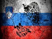 La bandera de eslovenia — Foto de Stock