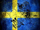 La bandiera svedese — Foto Stock