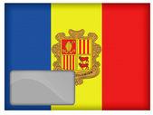 Andorra flag — Stock Photo