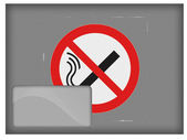 No smoking sign drawn at postal envelope — Stockfoto