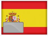 The Spanish flag — Stock Photo