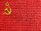 The USSR flag painted on grey fabric — Stock Photo