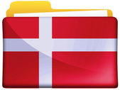 The Danish flag — Stockfoto