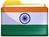 The Indian flag — 图库照片