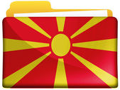 Macedonia flag — Stock fotografie