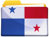 The Panama flag — Foto de Stock