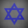 Jewish star painted on metall grill - Stock Photo