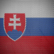 The Slovakia flag — Stock Photo
