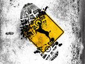 Herten verkeersbord — Stockfoto