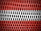 The Austrian flag — Stock Photo