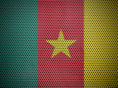 The Cameroonian flag — Stock Photo
