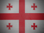 The Georgian flag — Stock Photo