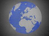Metall グリルに描かれた世界 — ストック写真