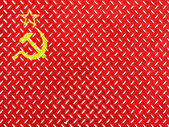 The USSR flag painted on metal floor — Stock Photo