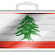 Lebanese flag — Stock Photo #15368795