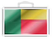 Benin flag — Stock Photo