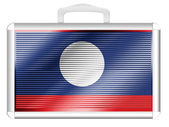 The Laotian flag — Stock Photo