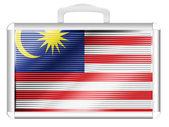 De vlag van Maleisië — Stockfoto