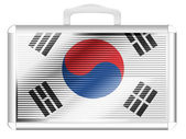 The South Korea flag — Stock Photo