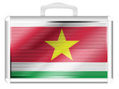 Surinamese flag — Stock Photo