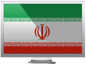 The Iranian flag — Stock Photo