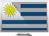 Uruguay flag — Stock Photo