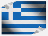The Greek flag — Stockfoto