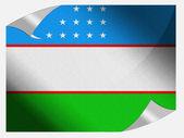 Uzbekistan flag — Stockfoto