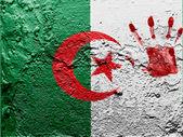 La bandiera algerina — Foto Stock