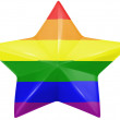 Stock Photo: Gay pride flag