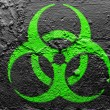 Stock Photo: Biohazard sign painted on grunge wall