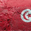 The Tunis flag - Stok fotoğraf