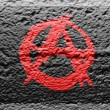 Anarchy symbol painted om — Stock Photo