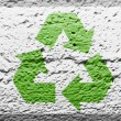 Recycle symbol painted on — Stock Photo