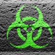 Biohazard sign painted on — Foto Stock