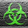 Biohazard sign painted on — Foto de Stock