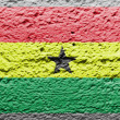 The Ghana flag - Stock Photo