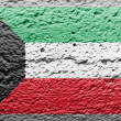 The Kuwaiti flag - Stock Photo