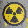 Nuclear radiation symbol painted on wall — Stock Photo #15388171