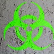 Stock Photo: Biohazard sign painted on wall