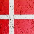The Danish flag — Stok fotoğraf