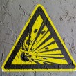 Explosive sign drawn on wall — Stock Photo #15388715