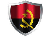 Angola flag painted on protection shield — Stock Photo