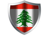 The Lebanese flag — Stockfoto