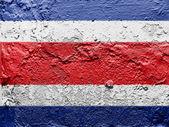 The Costa Rica flag — Stock Photo